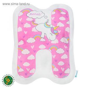 """Подушка """"Крошка Я"""" Н, 40х35 см, розовый, велюр, 100% п/э   4125425"""