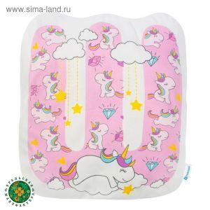 """Подушка """"Крошка Я"""" Ш, 42х46 см, розовый, велюр, 100% п/э   4125429"""