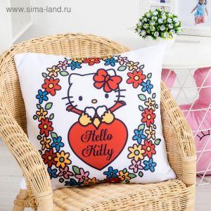 Подушка декоративная Hello Kitty 40х40, цвет белый 100% полиэстер
