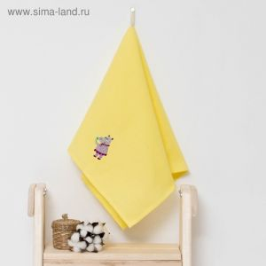 """Полотенце детское """"Доляна"""" Бегомотик, цвет солнечный 40х70 см, 100% хлопок, 150 г/м?"""