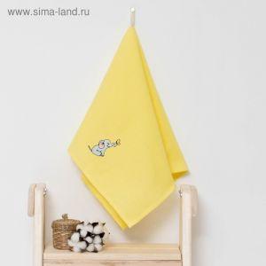 """Полотенце детское """"Доляна"""" Слоник, цвет солнечный 40х70 см, 100% хлопок, 150 г/м?"""