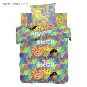 """Постельное бельё 1,5 """"Emoji movie"""" Команда Эмоджи"""