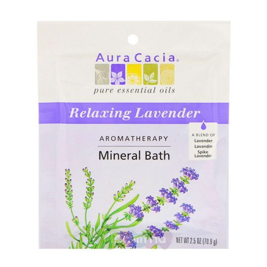 Aura Cacia Минеральное средство для ванны с Лавандой Relaxing Lavender