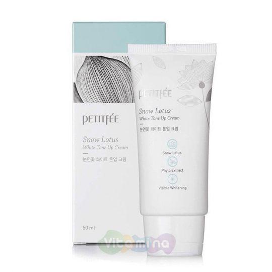 Petitfee Осветляющий крем для лица с экстрактом лотоса Snow Lotus White Tone Up Cream, 50 мл