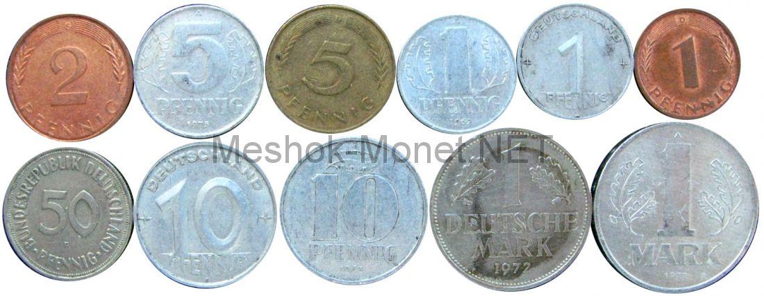 Набор монет Германии-ГДР-ФРГ (11 монет)
