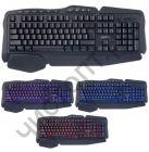 "Клавиатура провод. Perfeo ""STRIKE"" Multimedia, GAME DESIGN, подсв. 3 цвет, USB, чёрный"
