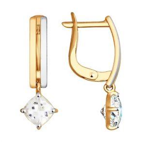 Серьги из золота со Swarovski Zirconia 81020308 SOKOLOV