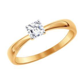 Помолвочное кольцо из золота со Swarovski Zirconia 81010233 SOKOLOV