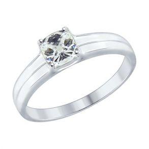 Кольцо из серебра со Swarovski Zirconia 89010067 SOKOLOV