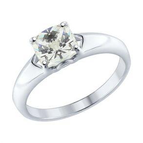 Кольцо из серебра со Swarovski Zirconia 89010062 SOKOLOV