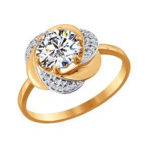 Кольцо из золота со Swarovski Zirconia 81010178 SOKOLOV