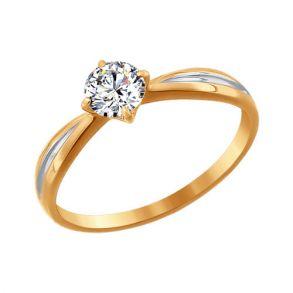 Помолвочное кольцо из золота со Swarovski Zirconia 81010177 SOKOLOV