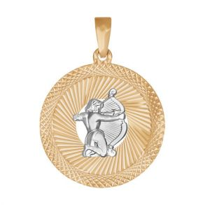 Подвеска «Знак зодиака Стрелец» с алмазной гранью 032333 SOKOLOV