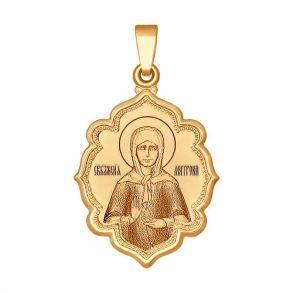 Кулон иконка «Святая блаженная Матрона Московская» 103017 SOKOLOV