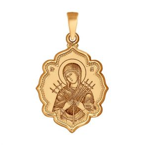 Иконка «Икона Божьей Матери, Семистрельная» 102988 SOKOLOV