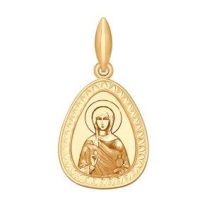 Иконка из золота с лазерной обработкой 102058 SOKOLOV