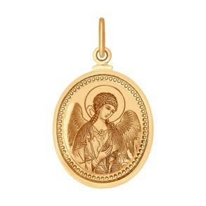 Иконка из золота с лазерной обработкой 100374 SOKOLOV