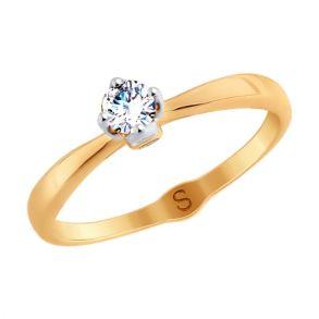 Кольцо из золота с фианитами 017969 SOKOLOV