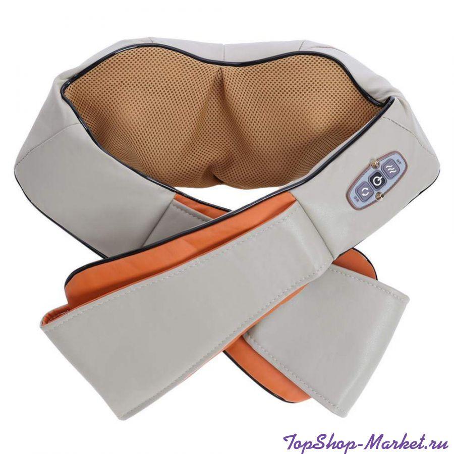 Массажер для шеи, плеч и спины с ИК-прогревом MASSAGER OF NECK KNEADING, 41х18х14 см