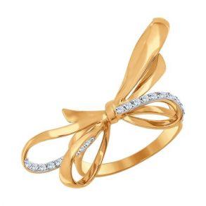 Кольцо из золота с фианитами 017045 SOKOLOV