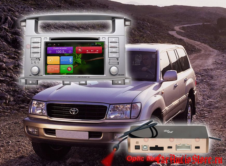 Toyota LC100 Redpower 31183 DVD DSP ANDROID 7 (31183 DVD IPS DSP)