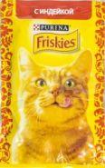 Friskies  Влажный корм для кошек с индейкой (пауч 85 г)