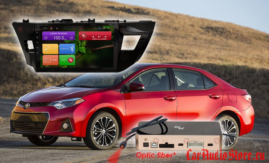 Toyota Corolla 2013-2016 Redpower 31066 R IPS DSP ANDROID 7