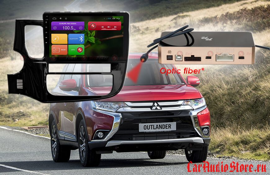 Mitsubishi Outlander RedPower 31156 R IPS DSP ANDROID 7