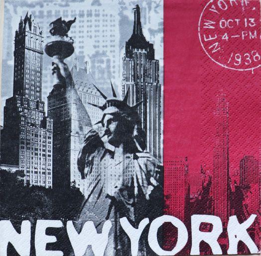 Салфетка бумажная 30*30 Нью Йорк