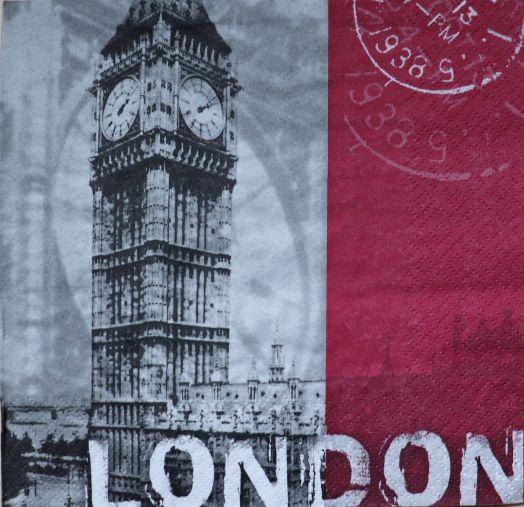 Салфетка бумажная 30*30 Лондон