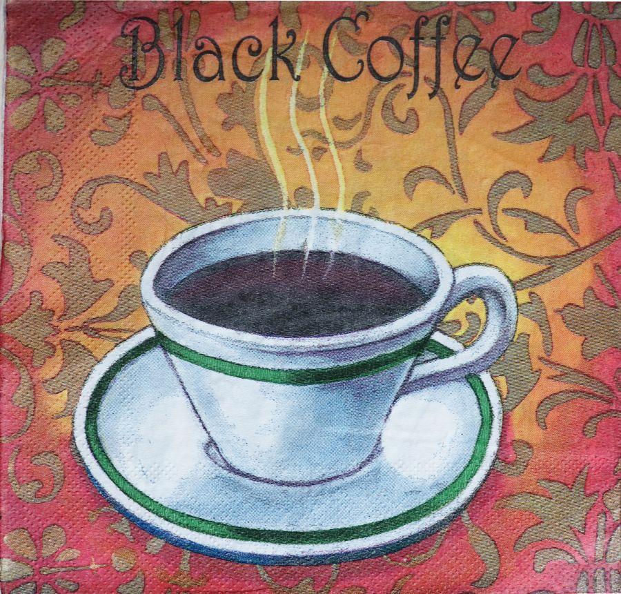Салфетка бумажная 30*30 Black coffee