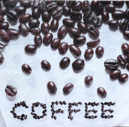Салфетка бумажная 30*30 Кофейные зерна