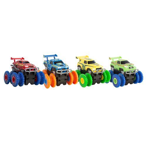 Машинка Монстр-трак Trix Trux - для канатного детского трека Trie Trul: цвет - зеленый.