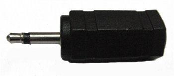 Переходник  микро джек 2,5 мм - аудио гнездо 3,5 мм ( моно )