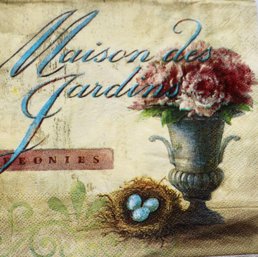 Салфетка бумажная 30*30 Maison des jardins