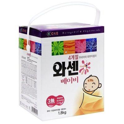 WASHEN Сильноконцентрированный синтетический стиральный порошок для детского белья 1,8 кг (ложка)
