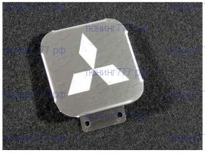 Заглушка в квадрат фаркопа, ТСС, нерж. сталь