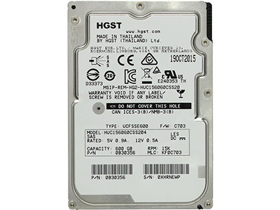 Жёсткий диск HGST Enterprise HDD 2.5 SAS 600Gb, 15000rpm, 128MB buffer HUC156060CSS204
