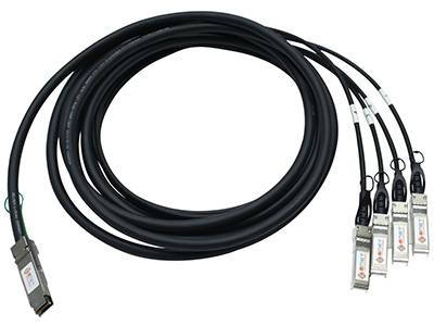 Модуль 40G QSFP-40G->,4xSFP+ DAC, дальность до 3м