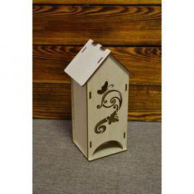 Чайный домик с узором и бабочками №1 03-082
