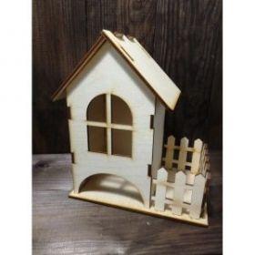 Маленький чайный домик с забором 03-115