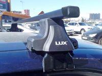 Универсальный багажник на крышу Hyundai Accent, D-Lux 1, стальные прямоугольные дуги
