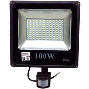 LED прожектор 100w с датчиком движения IP 66