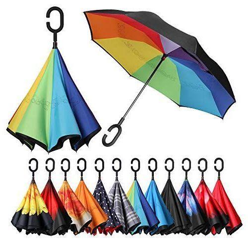 Зонт Наоборот,  Цветные листья
