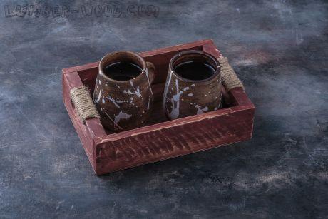 Поднос для подачи в кофейне. Арт. 1358