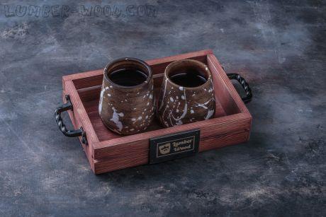 Поднос для подачи в кофейне. Арт. 1360