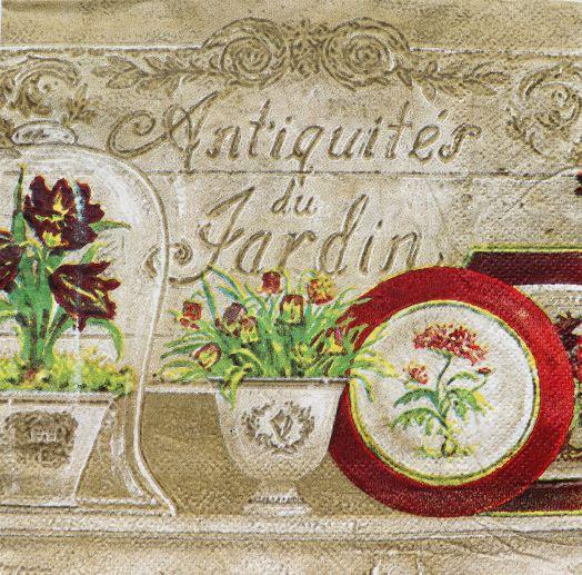Салфетка бумажная 30*30 Античный сад