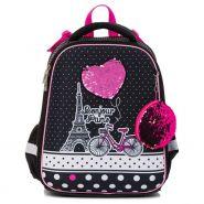 Школьный рюкзак ранец Hatber модель Ergonomic LIGHT Париж - Я люблю тебя (арт. NRk_30015)