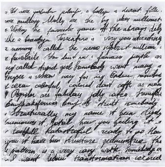 Силиконовый штамп Письмо 11*11 см