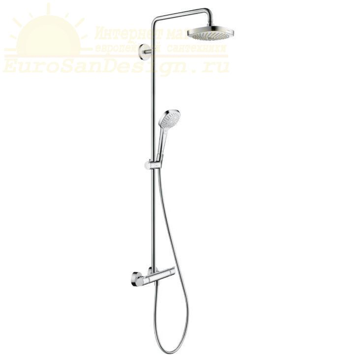 Душевая система Hansgrohe Croma Select E Showerpipe 180 2jet 27256400 ФОТО